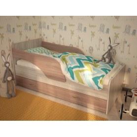 Детская кровать Максимка, корпус Шимо светлый, фасад Шимо темный