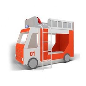 Детская кровать Пожарная машина ЛДСП ДМ-К2-2-1