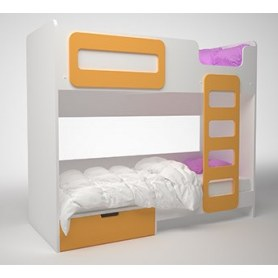 Детская двухэтажная кровать Брусника, Шафран, ДМ-К2-1-1