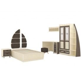 Детская кровать Калипсо 509.150 Сономе эйч темная/Штрихлак