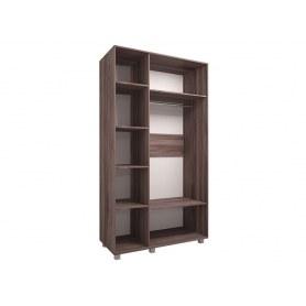 Шкаф трехдверный Доминик New, М1, шимо темный/светлый
