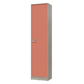 Детский шкаф-пенал Сити (6-9412дубсон\коралл)