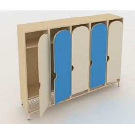 Детский шкаф ШГС5 Беж + Синий