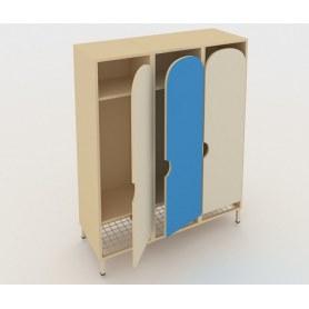 Детский шкаф ШГС3 Беж + Синий