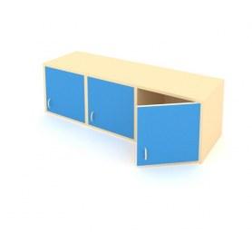 Детский шкаф ШГ-3Б Беж + Синий