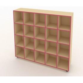 Шкаф для горшков ШГН-20 кромка розовая
