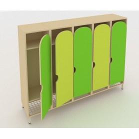 Детский шкаф ШГС5 Беж + Зеленая мамба + Лайм