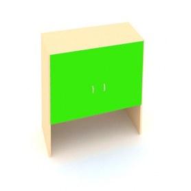 Детский шкаф ДШ-1М МДФ Беж + Зеленая мамба