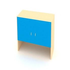 Детский шкаф ДШ-1М МДФ Беж + Синий