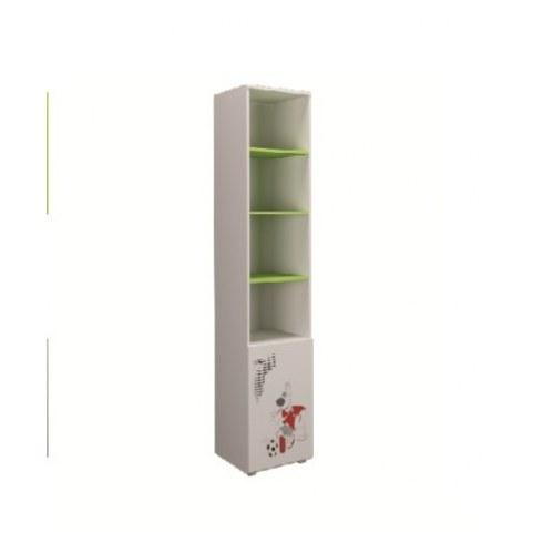 Детский шкаф Симба 400 1Д, цвет Белый/Лайм