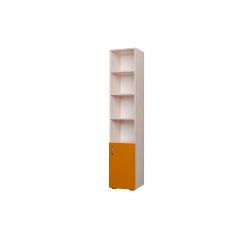 Детский шкаф 400 1Д Млечный дуб, Оранжевый