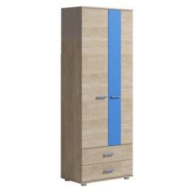 Детский шкаф Формула, 2 двери 2 ящика, синий