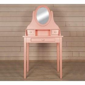 Туалетный столик Adelina с зеркалом (DM1038ETGR) Розовый