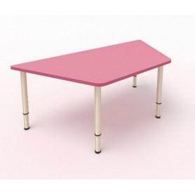 Детский стол Трапеция ЛДСП Розовый