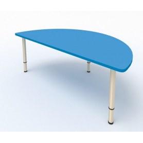 Детский стол Полукруглый МДФ Мраморный синий
