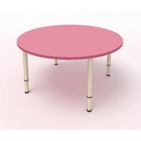 Детский стол круглый МДФ Розовый