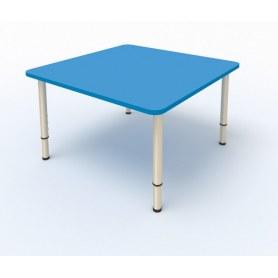 Детский стол 4-местный 80х80 ЛДСП Мраморный синий