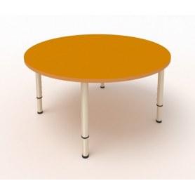 Детский стол круглый ЛДСП Оранжевый