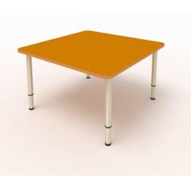 Детский стол 4-местный 70х70 ЛДСП Оранжевый