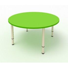 Детский стол круглый МДФ Зеленая мамба