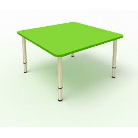 Детский стол 4-местный 80х80 ЛДСП Зеленая мамба