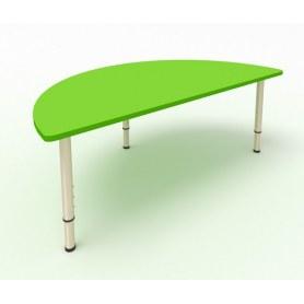 Детский стол Полукруглый ЛДСП Зеленая мамба