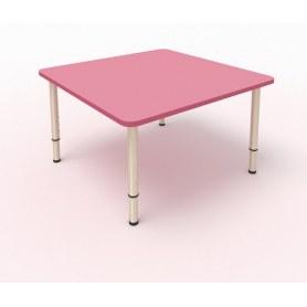 Детский стол 4-местный 80х80 МДФ Розовый