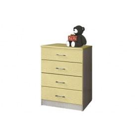 Детский комод Лего - 1, Дуб Линдберг/Кремовый металлик