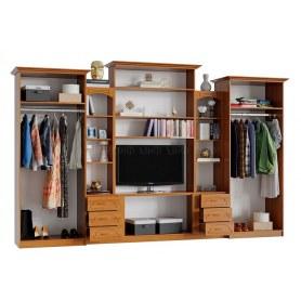 Гостиный гарнитур Альберт со шкафами, глянцевый