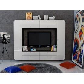 Гостиный гарнитур НМ 014.59 Некст, Белый глянец/ЛДСП Венге