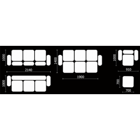 Прямой диван Нео 21 БД