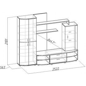 Гостиный гарнитур Bеrlin 1 МЦН + фасад Венге