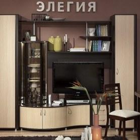 Гостиный гарнитур Элегия 24 МЦН + фасад Дуб Отбеленный