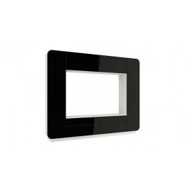 Гостиный гарнитур Лаванда - 2, Белый/Черный глянец