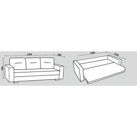 Прямой диван Нео 47 М