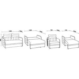 Прямой диван Нео 29 МД