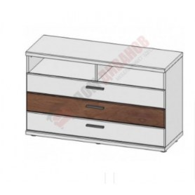 Комод ТВ Корано, 3 ящика, Бм.Кор-35, белый экспо/ольха текстурная