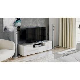 ТВ-тумба Glance тип 1 (Белый/Стекло белый глянец)