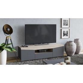 ТВ-тумба Тип 1 (Дуб Сонома/ Графит Серый)