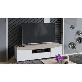ТВ-тумба Тип 1 (Белый Ясень/ Дуб Сонома)