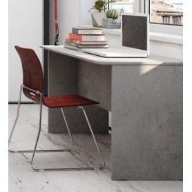 Стол письменный Грей, цемент светлый
