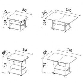 Стол трансформер Агат-22.2 Дуб