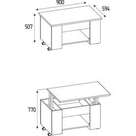 Стол-трансформер Леон 219