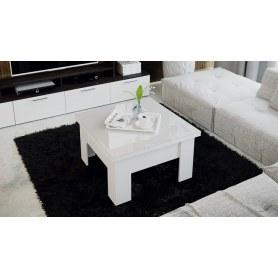 Журнальный раздвижной стол Glance тип 1 (Белый/Стекло белый глянец)