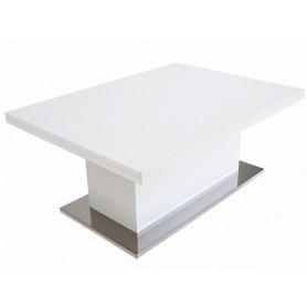Стол-трансформер Slide GL, белый суперглянец