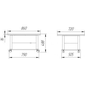 Стол трансформер Дебют-3, венге светлый/хром