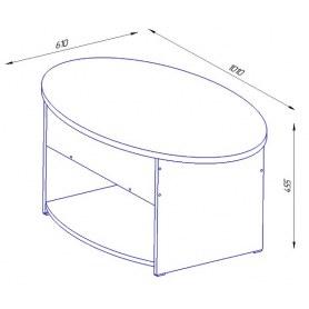 Стол трансформер Дебют-6, венге свтлый