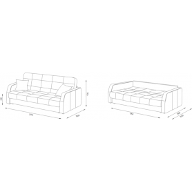 Прямой диван Аризона 2 БД (Боннель)