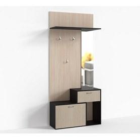 Прихожая Тумба 1 ящик 900 зеркало справа Крокус, цвет 3, ПР-Т-1-5 Дуб девонширский - Дуб Миланский