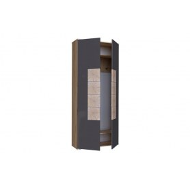 Шкаф двухстворчатый Фиджи, 659310, антроцит\дуб золотой